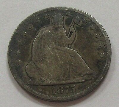 1875 S Seated Liberty Silver Half Dollar * Old US Half Dollars