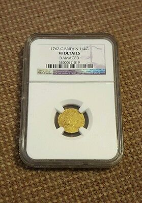 1762 1/4 guinea great Britain gold NGC VF details