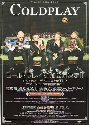 COLDPLAY 2006 Twisted Logic  Tour Japanese Flyer / mini Poster 8x6 inches