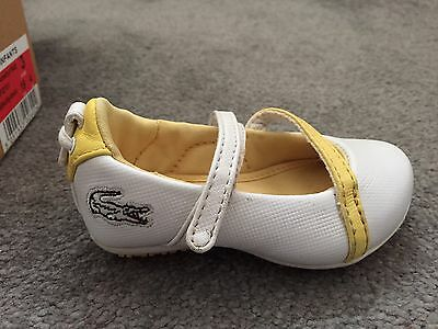Lacoste Baby Girls Shoes Uk 3 Eur19