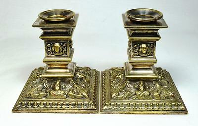 Victorian Gothic Candlestick Pair 1870s or 1880s