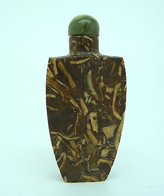 Antique Chinese Fossil Stone Snuff Bottle