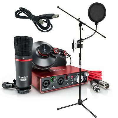 Focusrite Scarlett 2i2 Studio (2nd Gen) Recording Package BONUS PAK