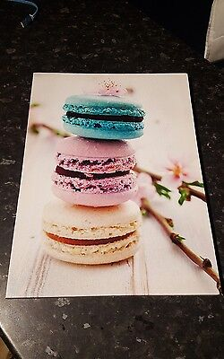 Canvas Print Of Colourful Stacked Macaroons Picture 40cm X 30cm