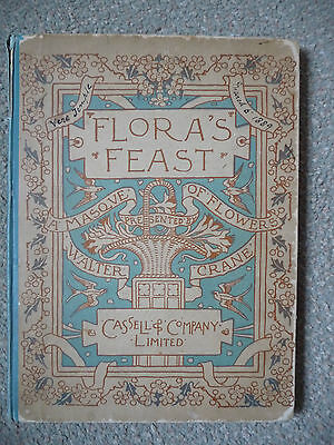 """FLORA'S FEAST - A MASQUE OF FLOWERS"" PRESENTED BY WALTER CRANE (1889). 1st ED."