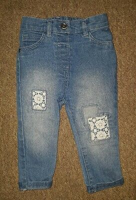 Baby Girls Blue George Jeans Trousers Size 6-9 months