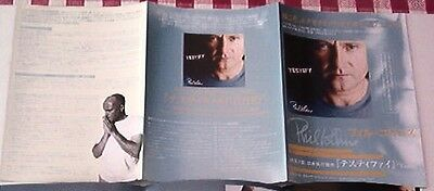 PHIL COLLINS (Genesis) Testify foldout Japanese Flyer / mini Poster 8x6 inches