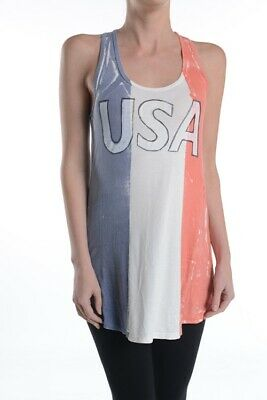 T-Party Women's Red White Blue USA Tank Top VRS23033