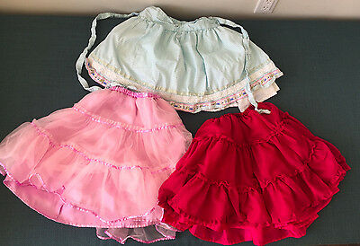 3 Tiered Twirl Skirts Girl's Hanna Andersson/Garnet Hill 120/130/6-8 Tulle!