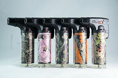 5x (Original) Eagle Torch Gun Adjustable Flame Refillable Lighters Mossy Oak