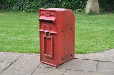 Royal Mail post box pillar box old red letter original lamp post mounted
