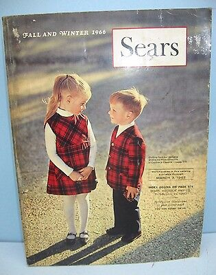 Vintage 1966 Sears Fall and Winter Catalog, Complete, 1183 Pages, Great Retro