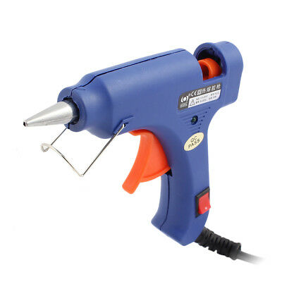 AC 100-240V 20W US Plug Blue Hot Melt Glue Gun High Temp for DIY Craft Projects