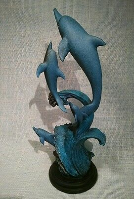 School/ Pod of 4 Dolphins Nautical/ Marine Figurine Statue Decoration Collection