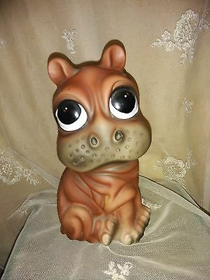 "Vintage Rossini Cute Big Eyed Hippo Figurine Japan 7 1/2"" Mint Condition"
