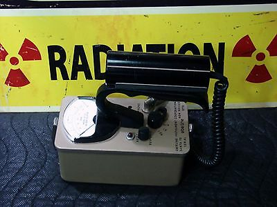 Eberline E-120 Geiger counter end window probe a β γ x & audio CALIBRATED