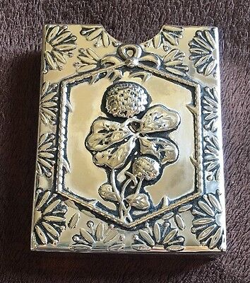 Vintage Silver Plate Playing Card Holder