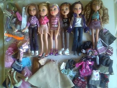 Bratz Girl Dolls X6, With Clothes / Accessories Lot 2