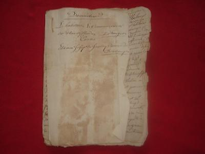 Antique French manuscript 18 page document dated 1786 nice 230 year old piece