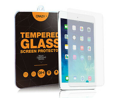 Crazy Tempered Glass Screen Protector For iPad Air 1 & 2 - Clear
