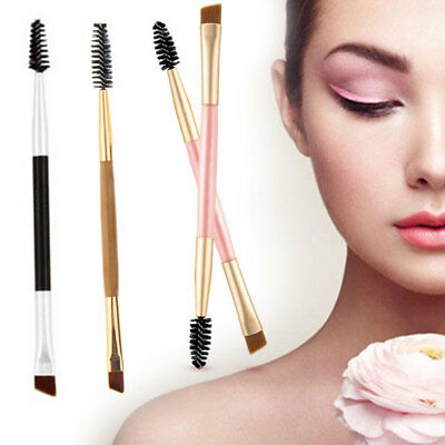 Eyebrow Brush Dual-sided Duo Brow Eyeliner Angled Cut Spoolie Brush Makeup Tools