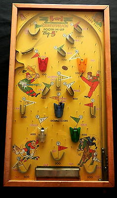 "1930s Northwestern Products Stand-up 5-in-1 POOSH-M-UP ""Big 5"" PINBALL GAME"