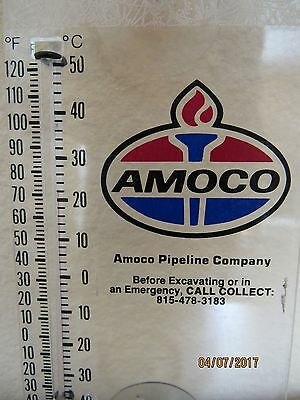 Old Amoco Pipeline Company Oil Gas Thermometer Manhattan, Illinois