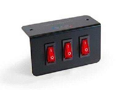 Triple Switch Panel - 1 momentary - 2 on/off - L Shaped Mounting Bracket