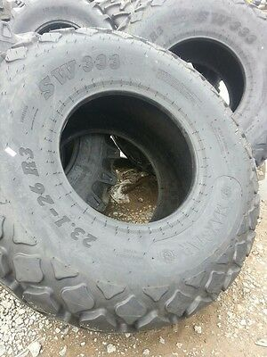TWO New 23.1x26 R3 FORD JOHN DEERE 16 ply Grain Cart/Combine Turf Tractor Tires