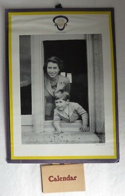 1954 Prince Charles Photo And Calendar By Lady Haig's Poppy Factory   (Inv13432)