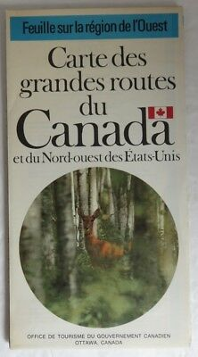 1973 French Map Of The Main Roads Of Canada                     (Inv13456)