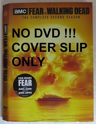No Discs !! Fear The Walking Dead Dvd Cover Slip Only - No Discs !!   (Inv13463)