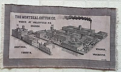 C. 1920 Montreal Cotton Company Woven Embroidered Runner Valleyfield Works