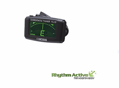 Boss Tu-01 Chromatic Tuner Instrument/guitar Clip On A0 - C8 By Roland