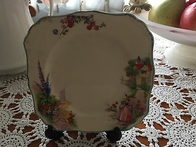 "J & G Meakin    Preloved Crinoline Lady  Sq Bread and Butter Plate ""June"""