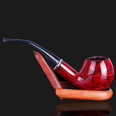 New Gift Wooden Enchase Smoking Durable Pipe Tobacco Cigarettes Cigar Pipes Red