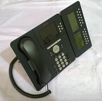 AVAYA 9640 IP Phone + SBM24 Button Module + Stand