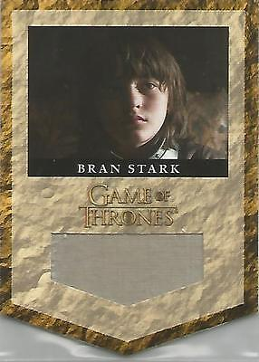 "Game of Thrones Season 2 - RS6 ""Bran Stark House Banner"" Relic Card #326/375"