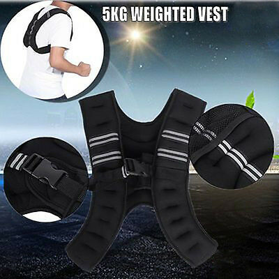5Kg Weight Vest Adjustable Weighted Crossfit Strength Training Fitness Outdoor