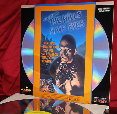 LASER DISC 'THE HILLS HAVE EYES' Cult Cannibal Horror