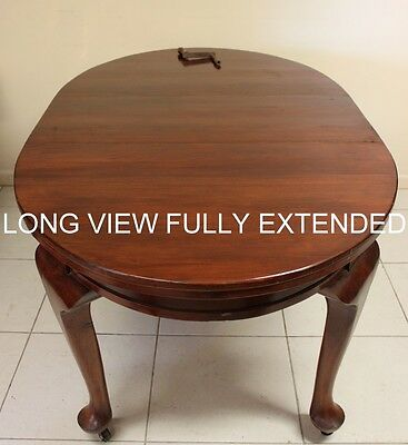 Antique Cedar Dining Table Single Leaf With Screw Extension Circa 1920 Australia