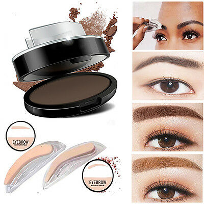 Natural Eyebrow Shadow Definition Makeup Brow Stamp Powder Palette Delicated Kit