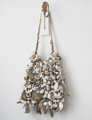 Mixed Shell Bag From Papua, Tribal Etnic Crafts Wall Art
