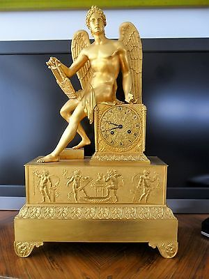 LARGE FRENCH EMPIRE CLOCK apollo playing