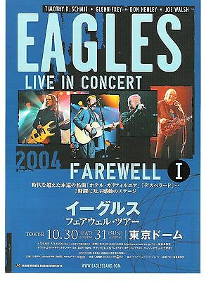 The EAGLES 2004 Tour 2-sided Japanese Flyer / mini Poster 10x7 inches