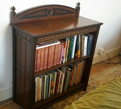 Victorian Carved Gothic Aesthetic Walnut Ebonised Gilt Bookcase Prob Gillows