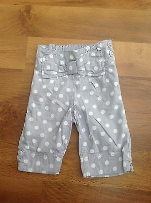 Next Girls  Grey Spotted Cropped Trousers Age 18-24 Months