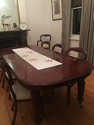 mahogany dining furniture and chairs