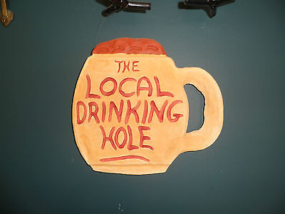 Local Drinking Hole Clay Sign Plaque