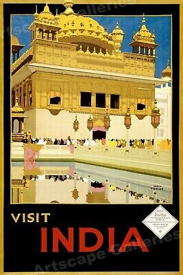 16x24 1930s Cornwall England Vintage Style UK Travel Poster